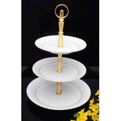 Etażerka na ciasta i owoce piramida Iwona B014 Złota Linia Chodzież