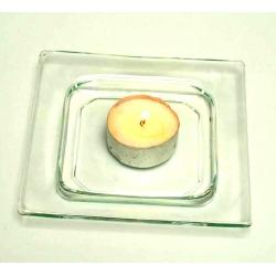 Podstawka szklana pod świeczkę Quatro