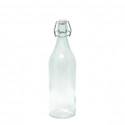 Butelka szklana hermetyczna okrągła 1 l. na kapsel