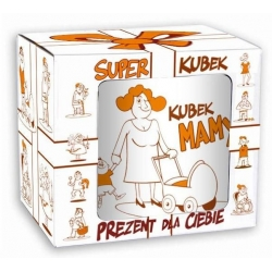 Kubek SUPER MAMA porcelanowy Dzień Matki