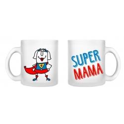 kubek SUPER MAMA 250 ml Sonia szkło satyna Dzień Matki