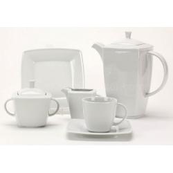 Komplet do kawy herbaty dla 12 osób biały 000e Lubiana Victoria 12/39 el.