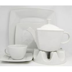 Komplet do herbaty kawy dla 12 osób biały 000e Lubiana Victoria 12/42 el.