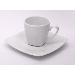 Filiżanka ze spodkiem biała 000e espresso Lubiana Celebration 0,09 l. / 12 cm mocca