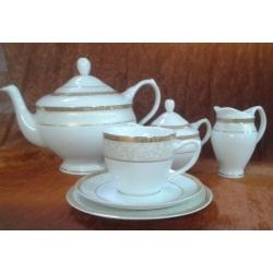 Komplet do herbaty na 12 Agawa Gold osób 39 el. (0677)