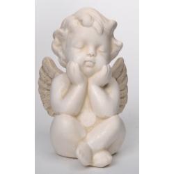 Aniołek gipsowy siedzący herubinek 12,5 cm 458-8