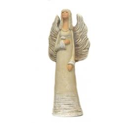 Figurka Anioł gipsowy z długimi skrzydłami 33 cm 469-8