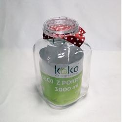 Słój szklany z klipsem 3 l. KOKO słoik