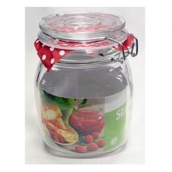 Słój szklany z klipsem 1,5 l. KOKO słoik