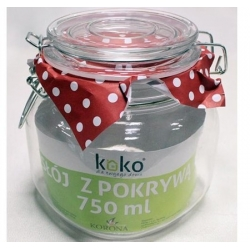 Słój szklany z klipsem 0,75 l. KOKO słoik