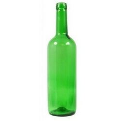 Butelka szklana zielona na wino 0,75 l.