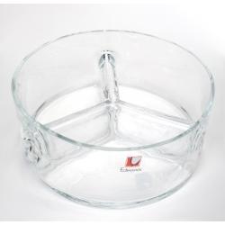 Salaterka szklana okrągła trójdzielna Edwanex 08-203/1