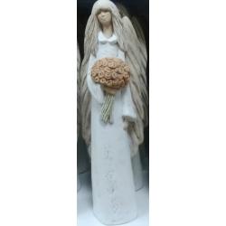 Figurka gipsowa ANIOŁ Anielica Zuzia z bukietem 503