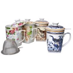 Kubek zaparzacz do herbaty z sitkiem 325 ml