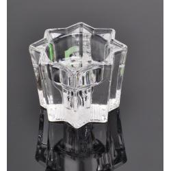 Świecznik szklany na tea-light GWAIZDKA WYSOKA lichtarz WRZEŚNIAK 06-198