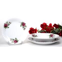 Komplet talerzy dla 6 osób Iwona Róża B826 18 el. 6/18