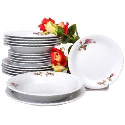 Komplet talerzy dla 6 osób Iwona Róża B026 18 el. 6/18