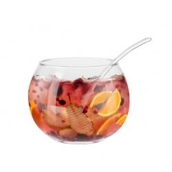 Bola szklana z łyżką szklaną SERVO Line KROSNO 4 l. salaterka