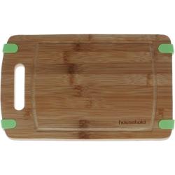 Deska bambusowa kuchenna z silikonem 32 cm * 21 cm *1,5 cm