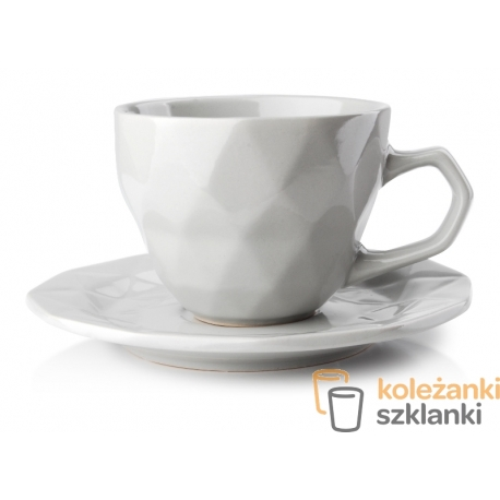 Adel Grey filiżanka 280 ml spodek 15,5 cm