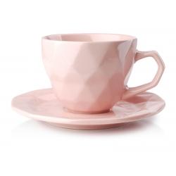 Adel Pink filiżanka 280 ml spodek 15,5 cm