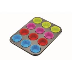 Forma do muffinek + silikonowe wkłady 12 szt KINGHOFF KH-4188 mufinki