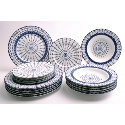 FLISTY komplet talerzy dla 6 osób 18 el. 1086