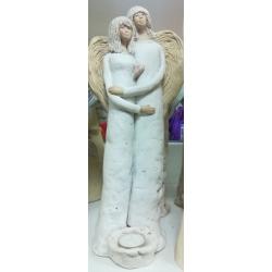 Figurka Anielska para gipsowa (022)