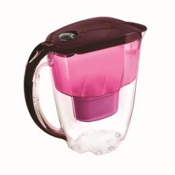 Aquaphor dzbanek Jasper 2,8 l. wiśniowy z licznikiem + wkład z magnezem B100-25 + herbata +przepisy