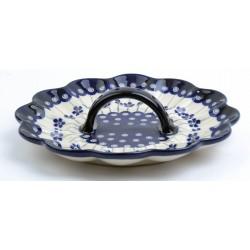 Talerz na jajka ceramiczny 166A GU-1559 BOLESŁAWIEC 24 cm