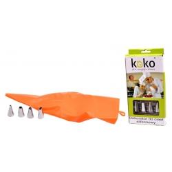 Dekorator silikonowy wyciskacz do ciasta KOKO 6836